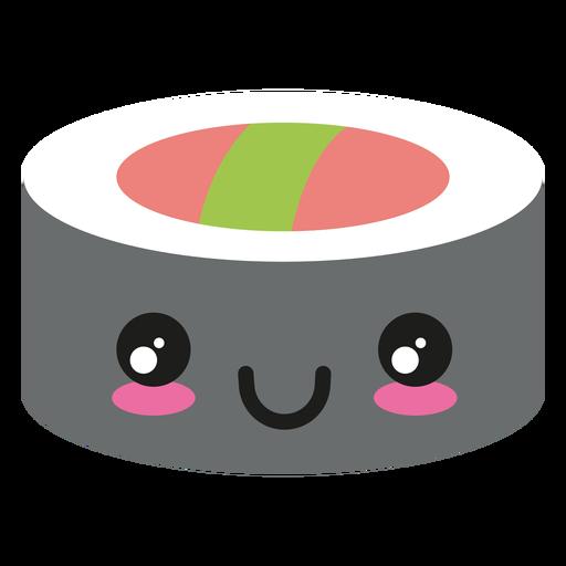 Happy kawaii face sushi icon