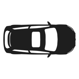 Hatchback car top view silhouette