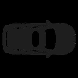 Silhueta de vista superior do carro hatchback