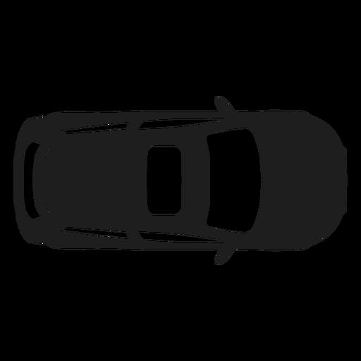 Draufsichtschattenbild des Hatchbackautos Transparent PNG
