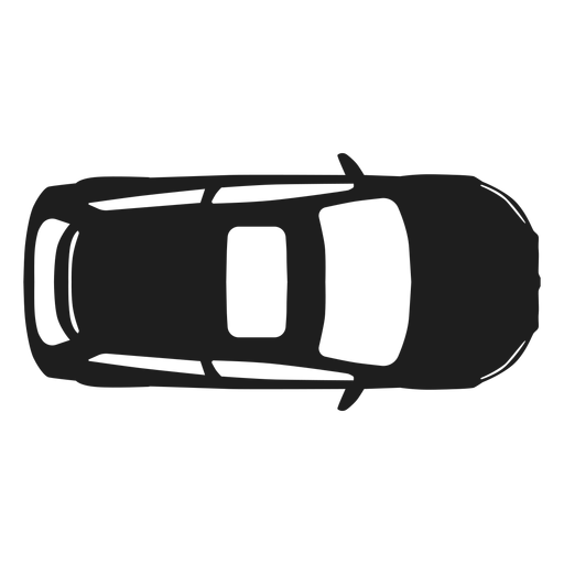 Hatchback car top view silhouette Transparent PNG