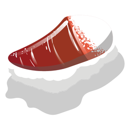Hokkigai surf clam sushi icon