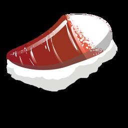 Hokkigai surf clam sushi ícone