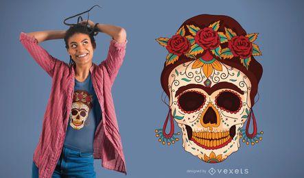 Diseño de camiseta del día de los muertos