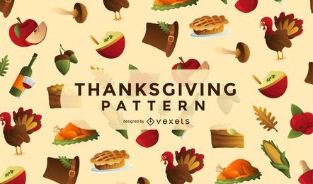 Thanksgiving elements pattern
