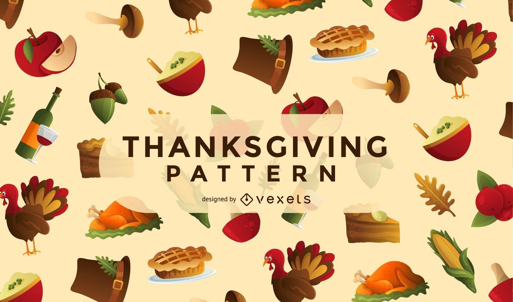 Thanksgiving-Elemente Muster