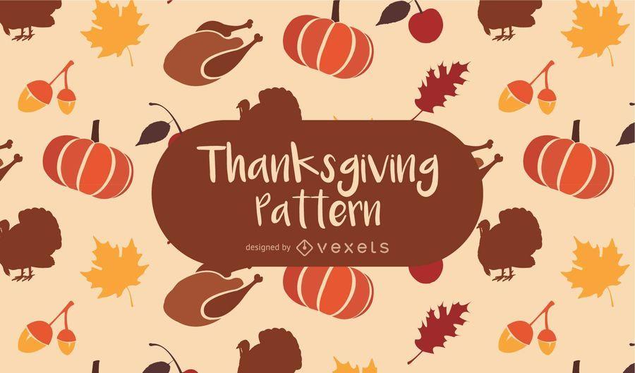 Thanksgiving nahtlose Muster