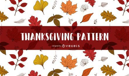 Autumn leaves Thanksgiving pattern