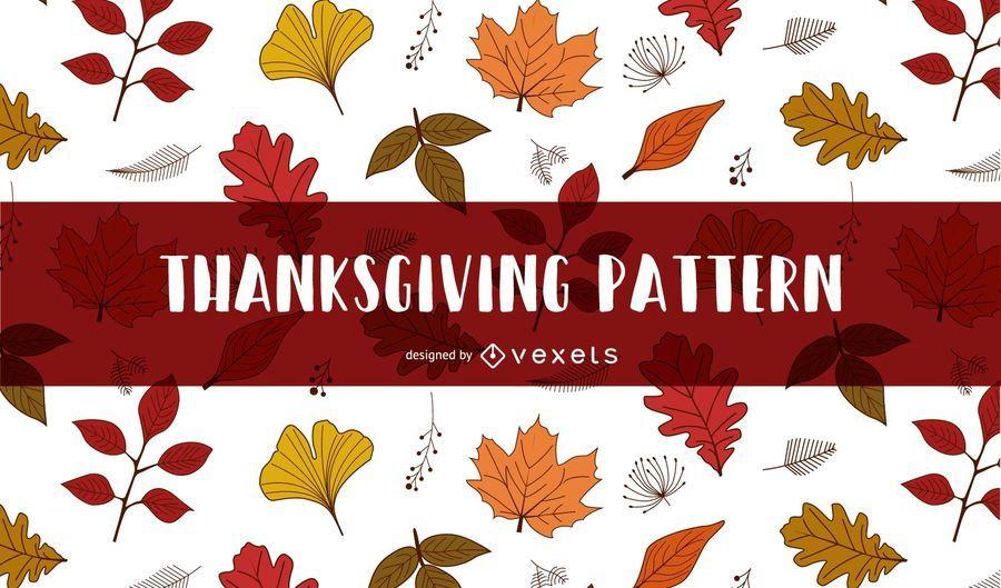 Autumn leaves Thanksgiving pattern