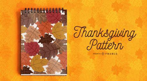 Patrón de hojas de acción de gracias