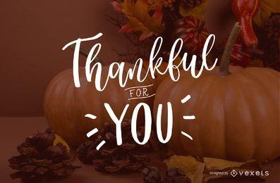 Agradecido por tu letras
