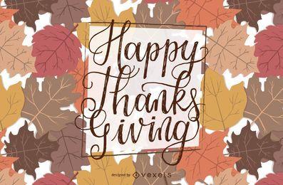 Letras de acción de gracias feliz