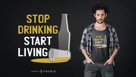Pare de beber design de t-shirt