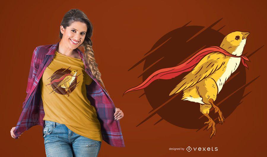 Projeto super do t-shirt do pássaro