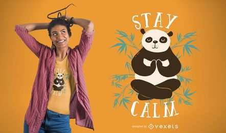 Design calmo do t-shirt da panda da estada