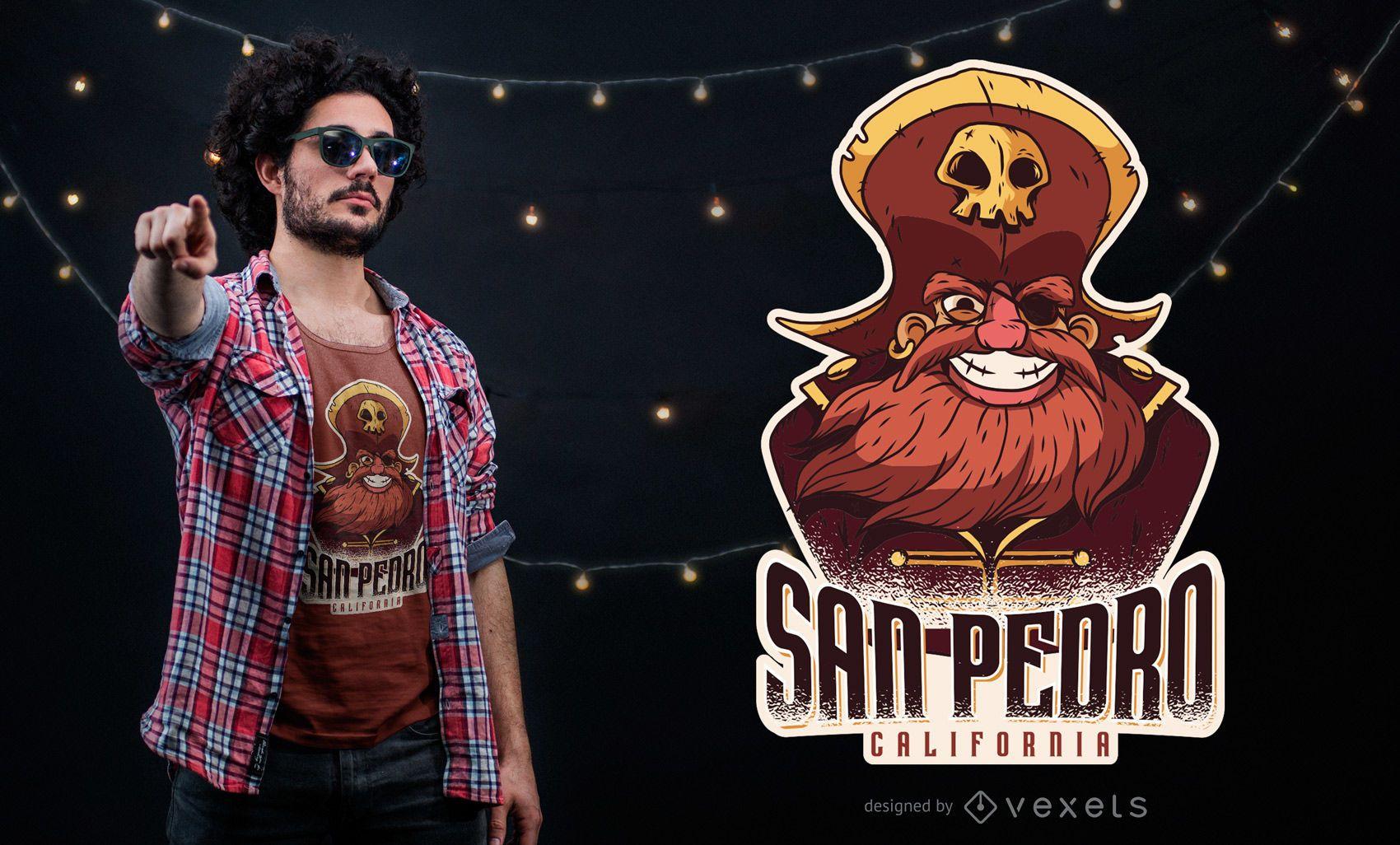 San Pedro Pirate T-shirt Design