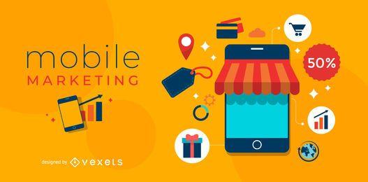 Design de marketing móvel