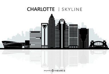 Silhueta de skyline de cidade de Charlotte