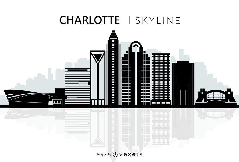 Silueta de horizonte de la ciudad de Charlotte