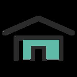 Icono de contacto de la dirección de casa