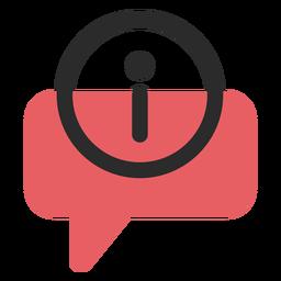 Ícone de contato de balão de fala de informação