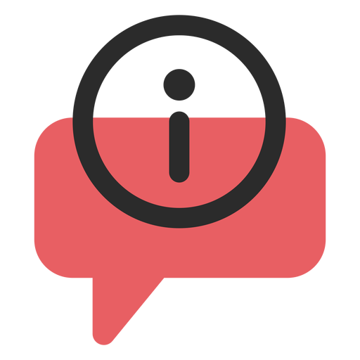 Info speech bubble contact icon Transparent PNG
