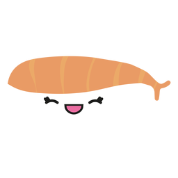 Kawaii face bass sushi icon