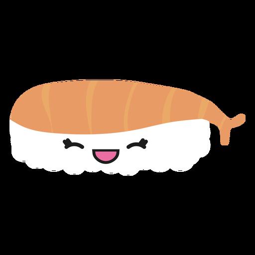 Kawaii face bass sushi icon