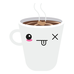 Kawaii face coffee cup