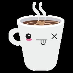 Taza de café cara kawaii