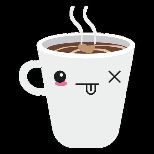 Taza de café cara kawaii Transparent PNG