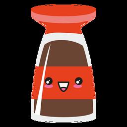 Kawaii face sushi soy sauce