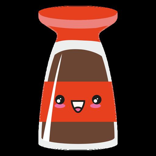Kawaii cara sushi salsa de soja Transparent PNG