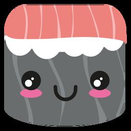 Rollo de sushi de atún Kawaii cara