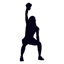 Kettlebell lifting crossfit silhouette