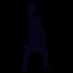 Kettlebell silhueta de crossfit de levantamento