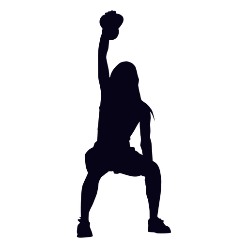 Kettlebell lifting crossfit silhouette Transparent PNG