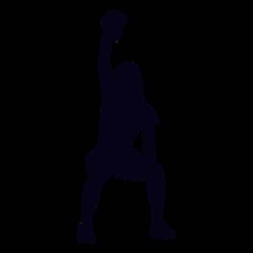 Silhueta crossfit levantamento Kettlebell