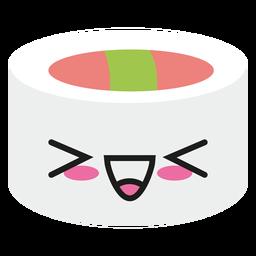 Laughing kawaii emoticon sushi