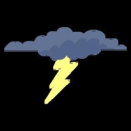 Icono de nube de rayo