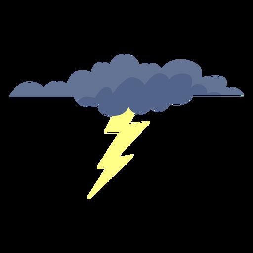 Ícone da nuvem relâmpago Transparent PNG