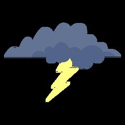 Icono de nube de tormenta de rayos