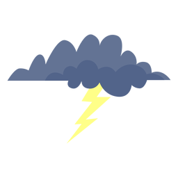 Lightning storm cloud icon