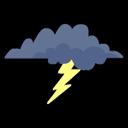 Icono de nube de tormenta de rayos Transparent PNG
