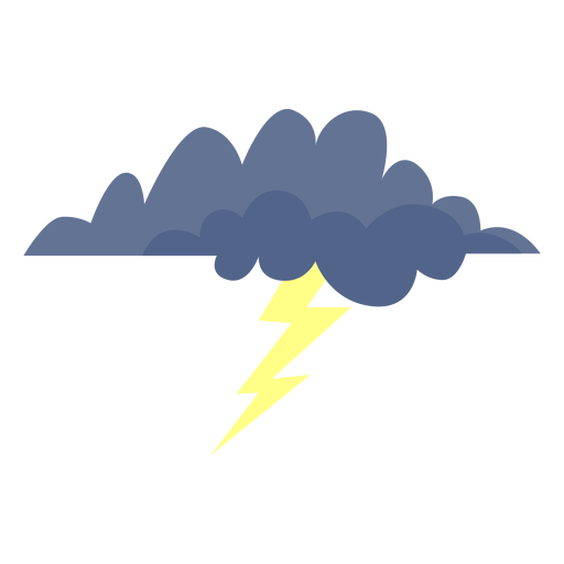 Lightning storm cloud icon Transparent PNG
