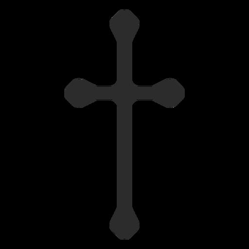 Icono de cruz cristiana larga Transparent PNG
