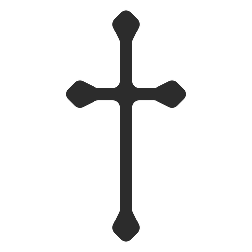 Long christian cross icon Transparent PNG