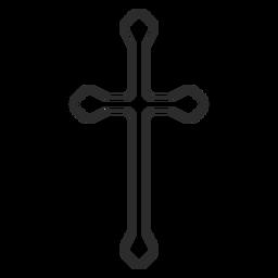Icono de trazo de cruz cristiana larga