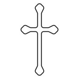 Long christian cross stroke icon