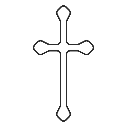 Long christian cross stroke icon Transparent PNG